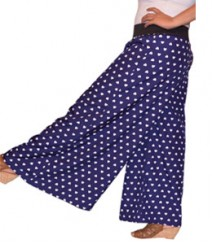 Heart print navy blue Women's Palazzo Pants SSP1005