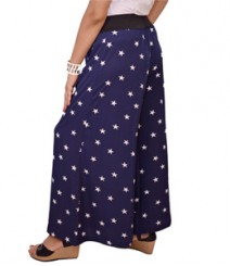 Navy blue star print Women's Palazzo Pants SSP11