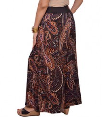 Paisley brown print Women's Palazzo Pants SSP12
