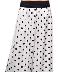 Polka Dot Black on white Women's Palazzo Pants SSP36