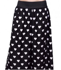 Heart Print White Black Women's Palazzo Pants SSP37