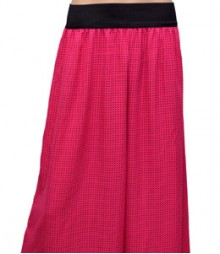 Pink with Small Black Dot Women's Palazzo Pants SSP38