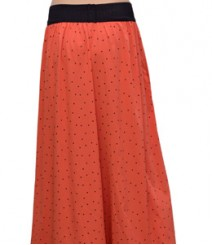Peach with Black Dot Women's Palazzo Pants SSP39