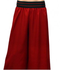 Plain Red Women's Palazzo Pants SSP40