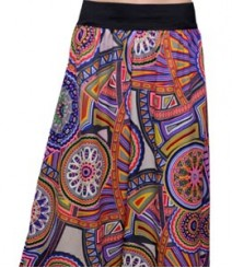 Multi Color Circle Print Women's Palazzo Pants SSP41