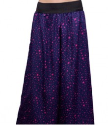Navy Blue with Pink Star Women's Palazzo Pants SSP45