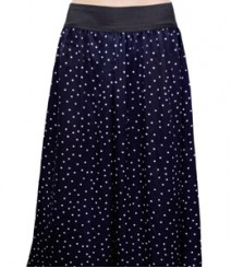 Navy Blue with Small white Dot Women's Palazzo Pants SSP46