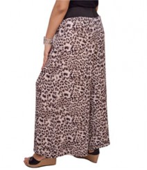 Grey Animal Print Women's Palazzo Pants SSP9