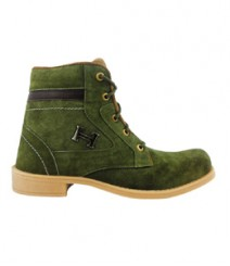 Elvace Green Comfy Boot Men Shoes 5010