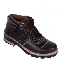 Elvace Chocklaty-Brown Snow Boot Men Shoes 5012