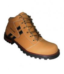 Elvace Tan Combat Boot Men Shoes 5013