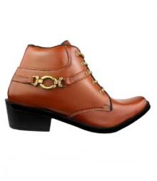 Elvace Tan Men Boot Men Shoes 5020