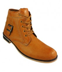 Elvace Yellow Men Boot Men Shoes 5023