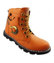 Elvace Yellow Men Boot Men Shoes 5024