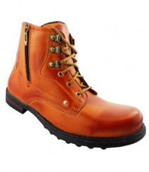 Elvace Tan Men Boot Men Shoes 5026