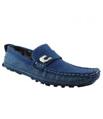 Elvace Blue Crowdy Loafer Men Shoes 6009