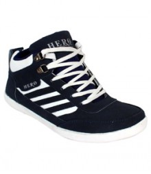 Elvace Blue-white Canvas Sneakers Men Shoes 7008