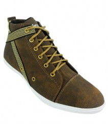 Elvace Brown Men Sneakers Men Shoes 7015
