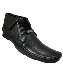 Elvace Black Comfy Formal Men Shoes 9007