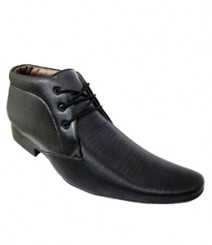Elvace Black Office Formal Men Shoes 9008