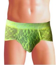 Free Size Italian Lycra Briefs Underwear B-143-Neon