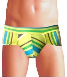 Free Size Italian Lycra Briefs Underwear B-143-Rainbow