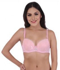 Imported Fabric Pink Designer Bra
