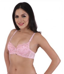 Imported Fabric Light Pink Designer Bra