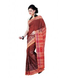Traditional Brick Red Vitchuripuri Cotton Saree BHN0025