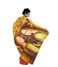 Marvelous Orange & Yellow Pure Silk Saree BHN0293