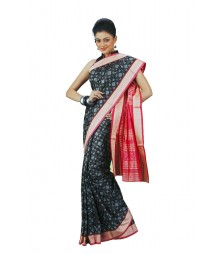 Fascinating Black Indian Silk Saree BHN2294
