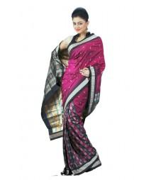 Classy Purple & Black Designer Silk Saree BHN4345