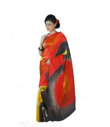 Comfortable Red Colorful Silk Saree BHN7690A