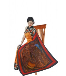 Inventive Multi Colour Silk Saree BHN9129