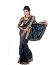 Black Indian Traditional Silk Saree BHN9350
