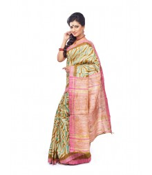 Multi Colour Designer Ghicha Silk Saree CBB0010