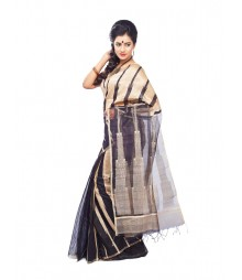 Black Designer Mulberry Silk Saree CBB0013