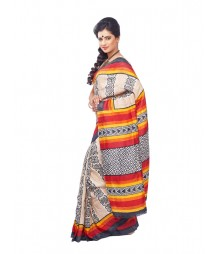 Multi Colour Tassur Silk Saree CBB0019