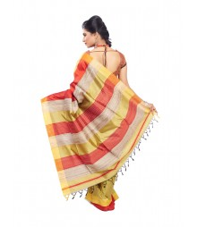 Golden Colour Designer Silk Saree CBB0023