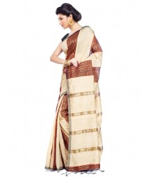 Golden Colour Art Silk Saree CBC0012