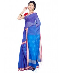 Blue Designer Mulberry Silk Saree CBC0019