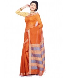 Orange Colour Cotton Saree CBC002