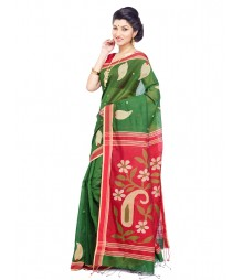 Green Designer Matka Silk Saree CBC0020