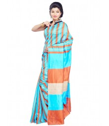 Sky Blue Designer Art Silk Saree CBC0022
