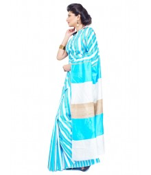 Sky Blue Colour Art Silk Saree CBC0023