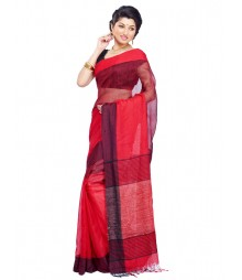 Red Designer Cotton Silk Saree CBC009