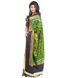 Modern Art Hand Painted Silk Saree CBD103