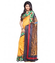 Modern Art Hand Painted Silk Saree CBD105