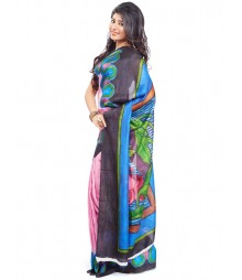 Modern Art Hand Painted Silk Saree CBD106