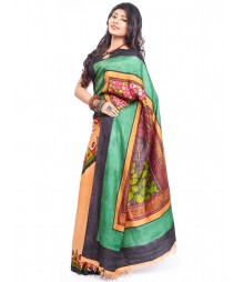 Modern Art Hand Painted Silk Saree CBD109